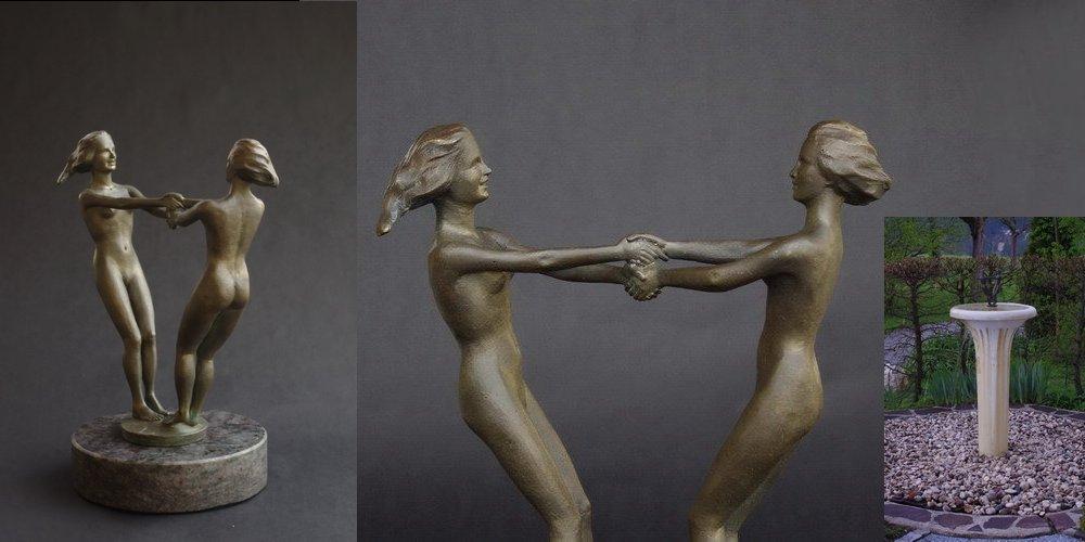 Küsselnde_Bronze_Brunnen_Bauer