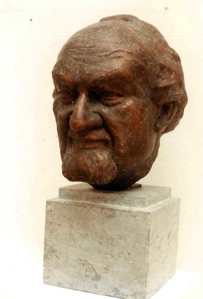 Rauwolf Büste Maler Willibald Demmel 1990 Bronze 1990