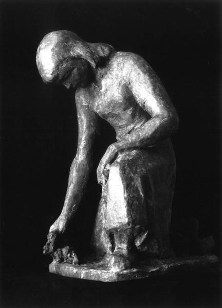 Rauwolf Gärtnerin Bronze 30cm